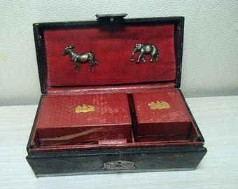 Antique Inkwell Travelling Writing Set Austria-Hungary 19th century.