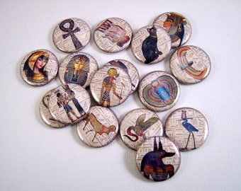 Egyptian Flatback Buttons, Pins, Magnets 12 Ct.