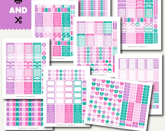 Monthly planner sticker set, Planner sticker kit, Weekly layout stickers, Printable stickers, Weekly stickers kit, STI-899