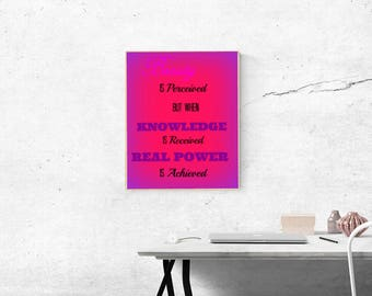 Beauty, Knowledge, and Power Art Print 8x10