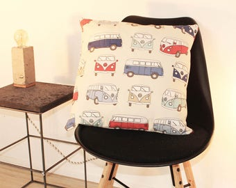 Volkswagen bus cushion of Red T1 50 x 50cm