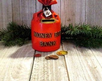 Vintage 1960s Lego Japan Money Bags Bank