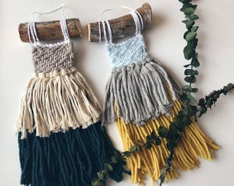 Cove//Handmade Fringy Boho weaving Wallhanging//OOAK//Ready To Ship