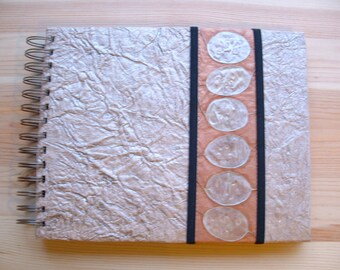 Unique Handmade Album Blank Book  with Black AND White Pages 9 x 7 inches