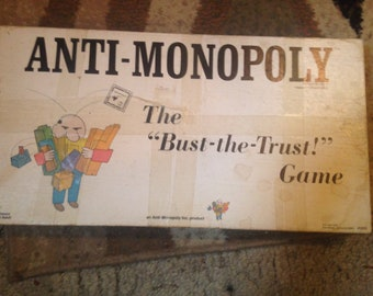 Vintage Anti-monopoly board game from 1973