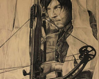 The Walking Dead Painting 2 of 4 Daryl Dixon