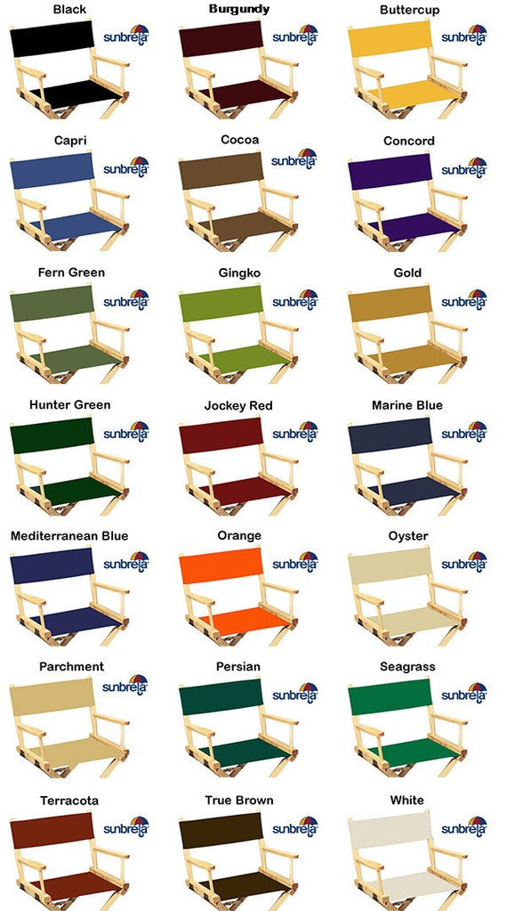 Marvelous SunbrellaR Directors Chair Replacement Covers Round Stick