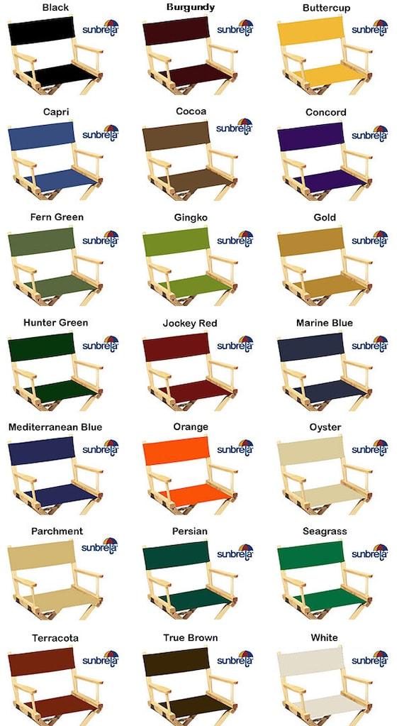 Wonderful SunbrellaR Directors Chair Replacement Flat Stick Covers