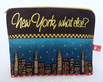 Cosmetic Bag  World Traveler, New york, what else