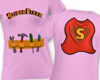 Super Fixer Costume (Front and Back) classic women's t-shirt