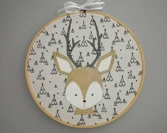 Deer child's room frame