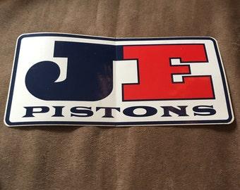 "JE Pistons Sticker/Decal 7 1/4""x3 1/2"""
