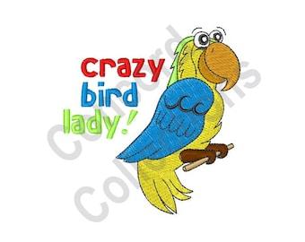 Talking Bird Machine Embroidery Design