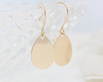 Gold Drops Earrings • Minimalist gold drop earrings