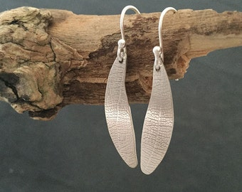 Rolled Leaf Earrings