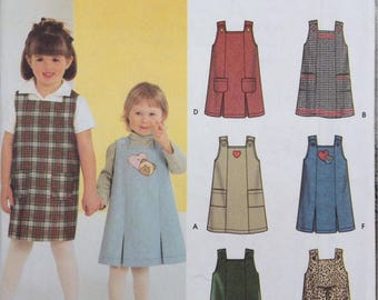 Little girls jumpers Simplicity sewing patern