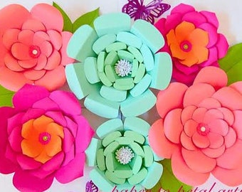 Giant Paper Flowers- DIY templates, Patterns & Tutorial- Paper flower kit, Giant  paper flower templates, Backdrop flowers