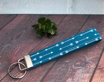 Arrows key fob, fabric key fob, key chain, keychain wristlet, stocking stuffer