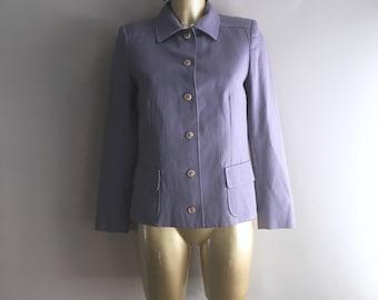 Vintage 1960s Jaeger light purple wool jacket size 10Uk