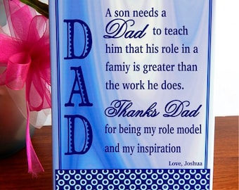 Unique Gift for Daddy - Gifts for Dad Personalized - Fathers Day from Son or Daughter