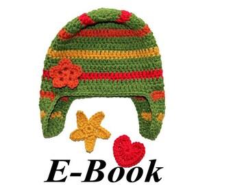 Häkelanleitung E-Book Mütze mit Applikationen