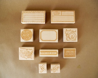 Paper Pastries Mail Rubber Stamps