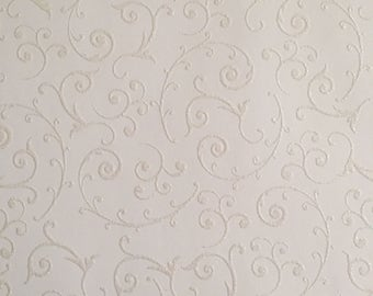 10 5.75x5.75  sheets white raised glimmer cardstock with swirls pattern