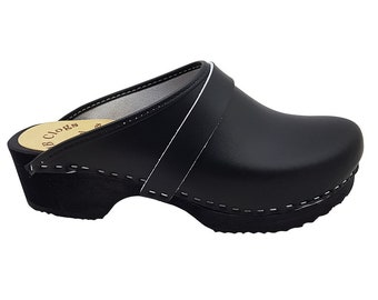 Original Sweden clogs of MB clogs GR 34 to 47 black clogs wooden Klotschen wooden mules men's wooden slippers