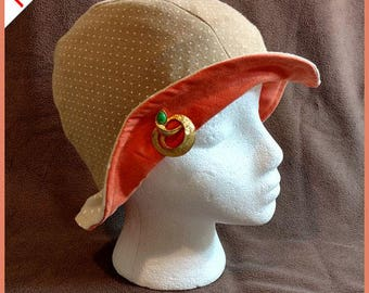Spice Girl ~ Handcrafted from recycled clothing, Cloche, Flapper Style, Chemo Hats