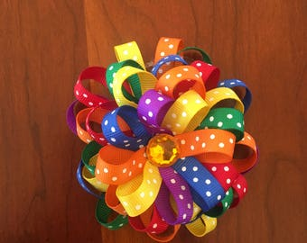 Rainbow Flower Bow