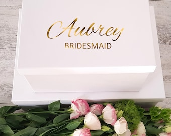 Gift Box Decal/Sticker ONLY - Choose Audrey or Charlotte Style
