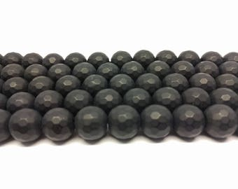 Faceted Black Onyx Faceted Beads Black Onyx Beads Matte Beads Matte Black Beads Jewelry Beads for Jewelry Making Mala Beads Jewelry Beads