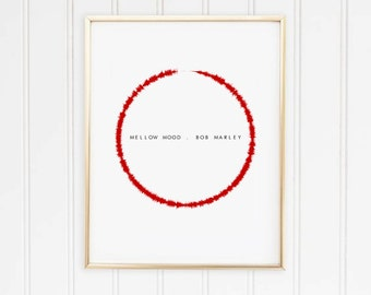 Circle Sound wave Personalised Print
