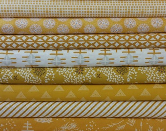 The Mustard Yellow Buck Forest Color Bundle (10 Fabrics)