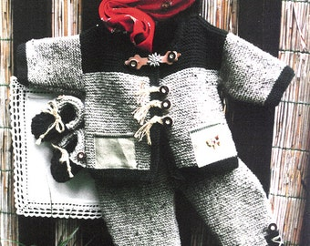 Traditional Austrian Baby Set, Knitting Instructions, PDF instant download, GERMAN only!