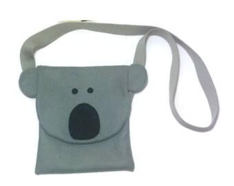 Childrens Koala Bag, Kids Koala Bear Bag, Bear Bag, Felt Bag, Animal Bag, Kids bear bag