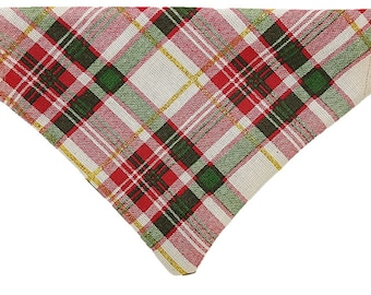 Holiday Plaid reversible dog bandana Snowflakes Winter Christmas Gifts for dogs and dog lovers