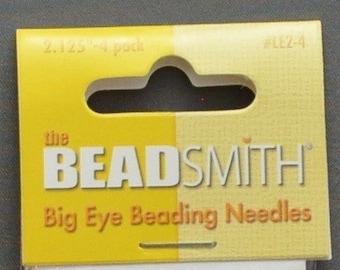 """Beading Needles - Big Eye 2.125"""" Pack of 4"""