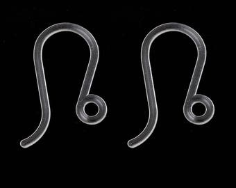 BO54 - A pair of earrings made of plastic 17.0 mm x 8.0 mm