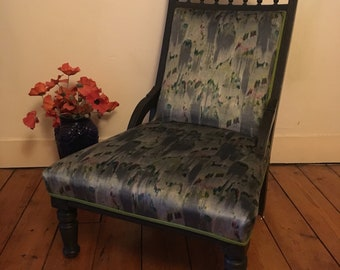 Edwardian Nursing Chair newly reupholstered