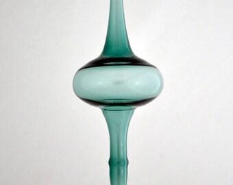 Teal Glass Ornament, Hand Blown Ornament, Blue Green Ornament, Teal Ornament, Handmade Ornament, Suncatcher, Teal Suncatcher