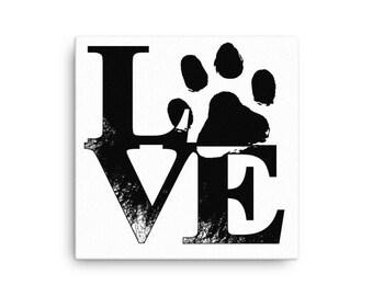Love Paw Print - Canvas