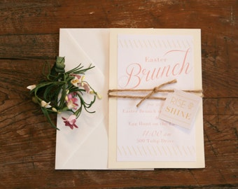 Rise and Shine Easter Brunch Invitation