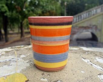 Utensil holder Ceramic Beaker Reinbow ceramics beaker Large glass Small pottery vase Small ceramic vase Stoneware beaker Pottery vase