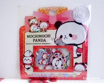 Kamio Japan Sticker Flakes - Mochimochi Panda - 50 Pieces (46390)