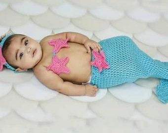 Little Mermaid Baby Girl  Photo Prop Set