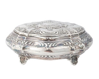 Antique Peruvian Sterling Silver Jewelry Box