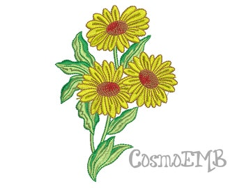 Sun Flower Embroidery design  Machine Embroidery - Digital INSTANT DOWNLOAD