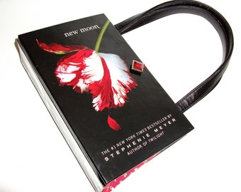 Book Purse New Moon Book Handbag Handmade Breaking Dawn Upcycled Purse Fashion Accessory
