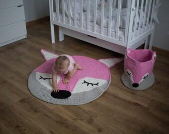 Pink nursery rug | Baby play mat Chrochet rug Rug Nursery decor Bathroom Rug Bedroom decor Home decor